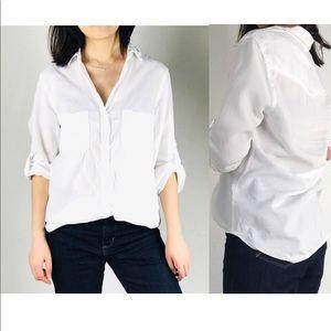 Cloth and stone basic white button down shirt